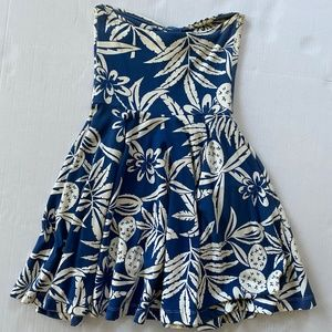 Betsey Johnson Hawaiian Strapless Dress